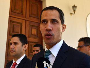 Juan Guaidó, na Assembleia Nacional venezuelana, nesta segunda-feira.