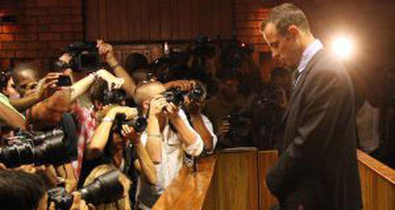 Pistorius, durante o julgamento, em Pretória.