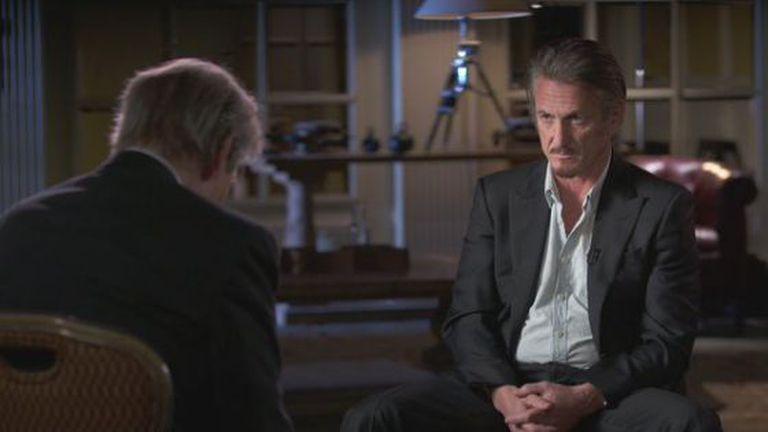Sean Penn na entrevista ao 60 Minutes.