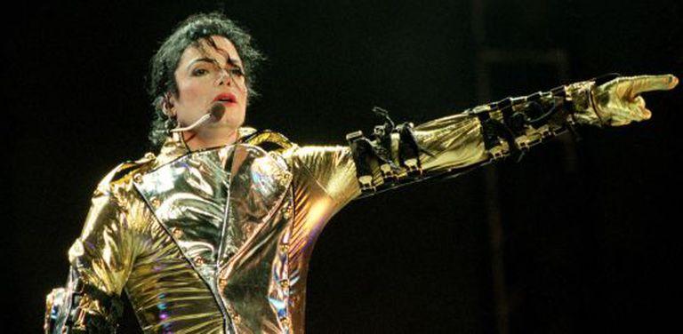 "Michael Jackson na turnê de ""HIStory"", na Nova Zelândia, no dia 10 de novembro de 1996."