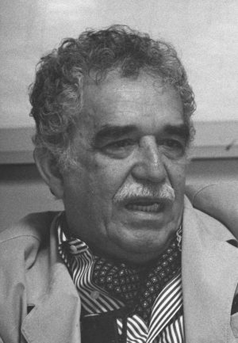 O escritor Gabriel García Márquez durante a conversa-colóquio na Escola de Jornalismo da UAM em 1994.