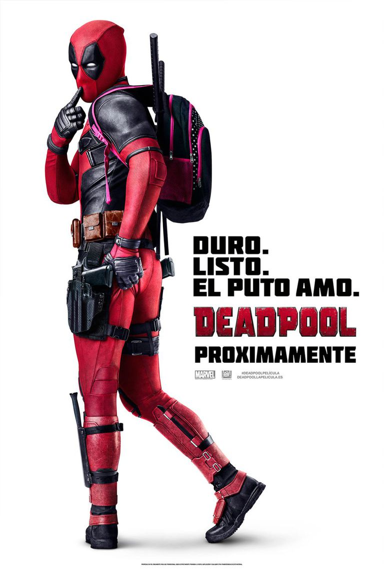 Cartaz promocional de 'Deadpool'