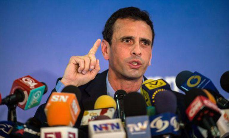 Capriles, na quarta-feira em Caracas.