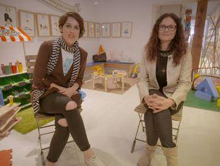 Laura Baena e Eva Bailén na loja Baby Deli, em Madri.