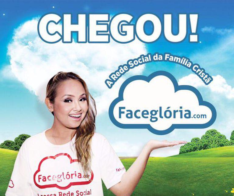Anúncio da rede Faceglória, lançada em junho.