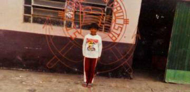 Paulinho na infância, em São Paulo