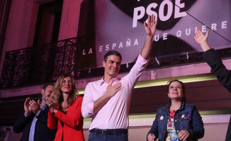 Discurso de Pedro Sánchez após vitória nas urnas na noite deste domingo, 28