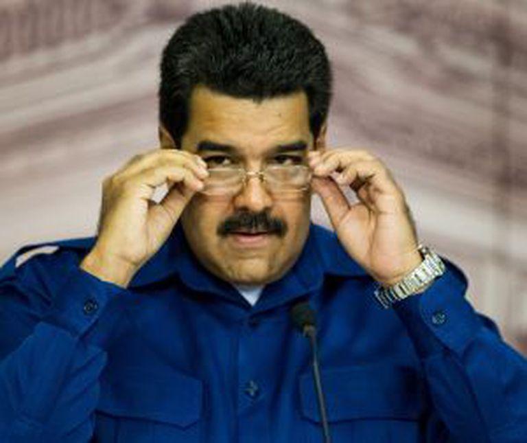 Maduro, durante a coletiva de imprensa.