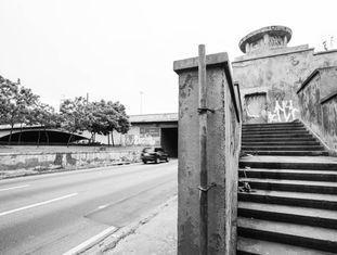 Escadaria de acesso da Ponte das Bandeiras para Marginal Tietê