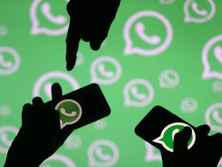 Ilustração do WhatsApp, aplicativo para celular