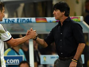 Klose e Loew, no final do Brasil 2014 ante Argentina.