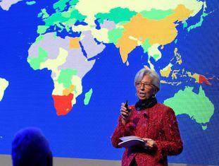 A diretora do Fundo Monetário Internacional, Christine Lagarde.