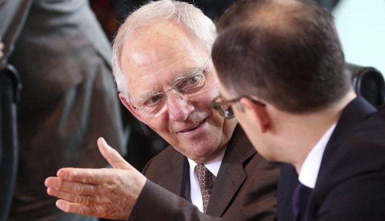O ministro Wolfgang Schäuble com Heiko Mass.