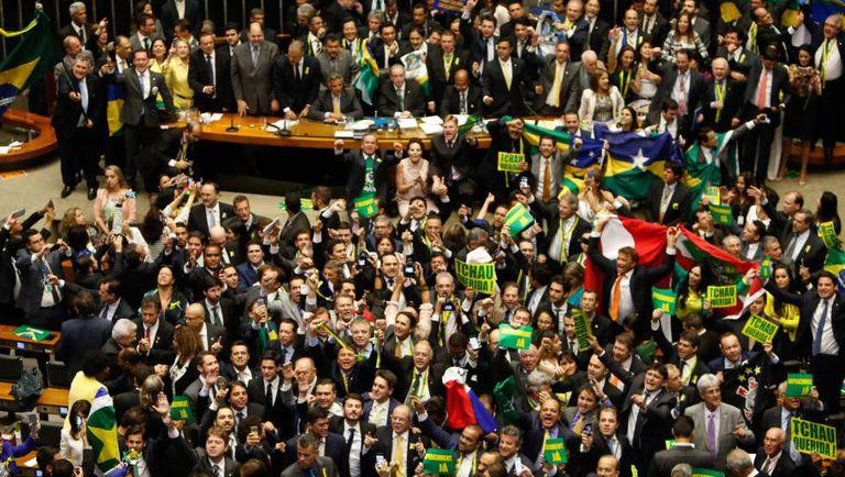 Votação do processo de impeachment de Dilma Rousseff na Câmara.