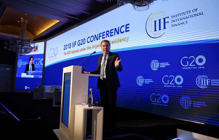 O ministro da Fazenda da Argentina, Nicolás Dujovne, abre a 10ª Conferência IIF - G-20 no domingo, 18 de março, em Buenos Aires