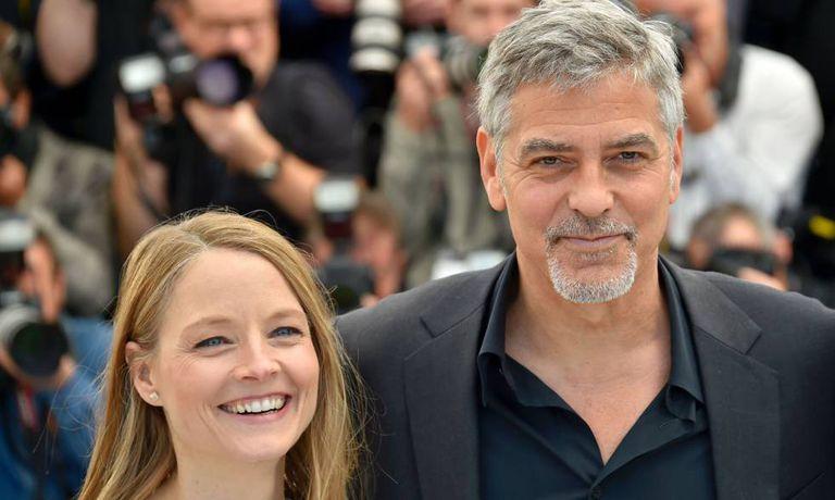 Jodie Foster e George Clooney, nesta quinta em Cannes.
