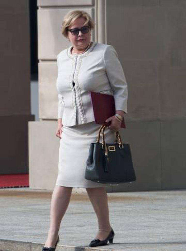 A presidenta da Suprema Corte polonesa, em 3 de julho de 2018.