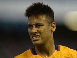 Neymar durante o jogo contra o Celta.