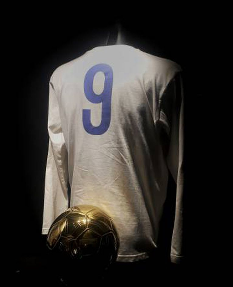 Homenagem a Di Stéfano no Museu do Real Madrid.