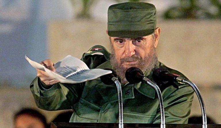 Fidel Castro, em um discurso em 1999.