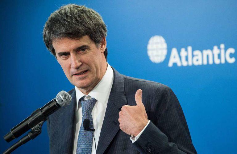 O ministro da Economia da Argentina, Alfonso Prat-Gay, durante um discurso em Washington, em 14 de abril.