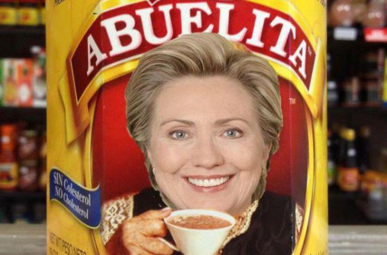 Uma das paródias na internet após a polêmica da 'abuela' com Clinton.
