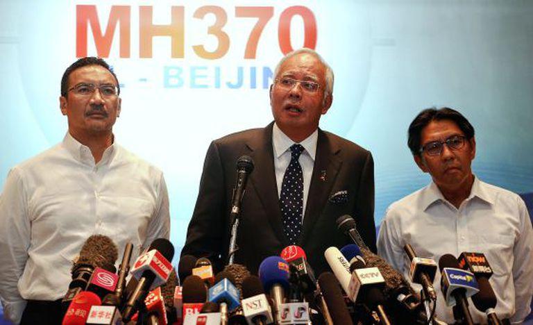 Coletiva de imprensa do primeiro-ministro da Malásia.