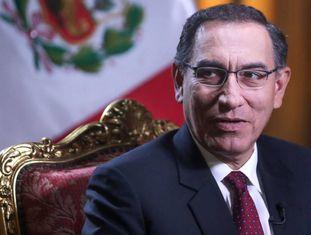 O presidente peruano, Martín Vizcarra, nesta semana.