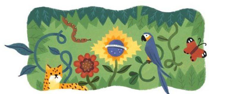 O doodle do Google.