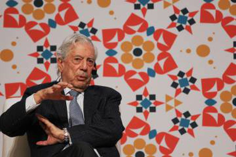 O escritor Mario Vargas Llosa na Feira Internacional do Livro de Guadalajara.