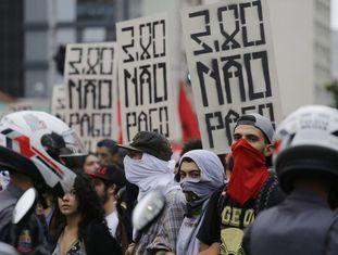 Ato do MPL nesta terça, na Paulista.