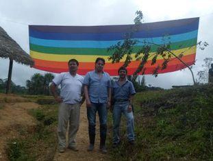 Figueroa, Villavicencio y Jiménez, na selva.