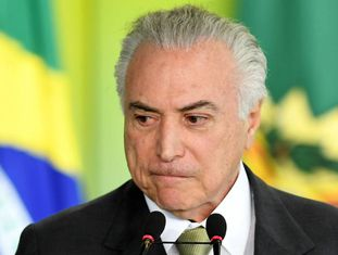 Presidente Michel Temer em evento no Palácio do Planalto.