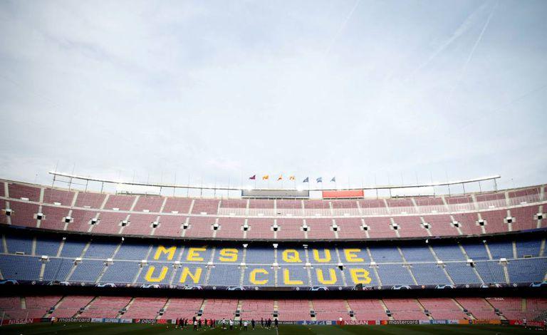 O Camp Nou, palco da partida de volta das quartas na Champions.