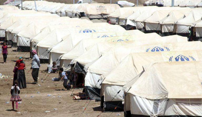 Um dos campos de refugiados perto de Zakho, ao norte do Iraque.