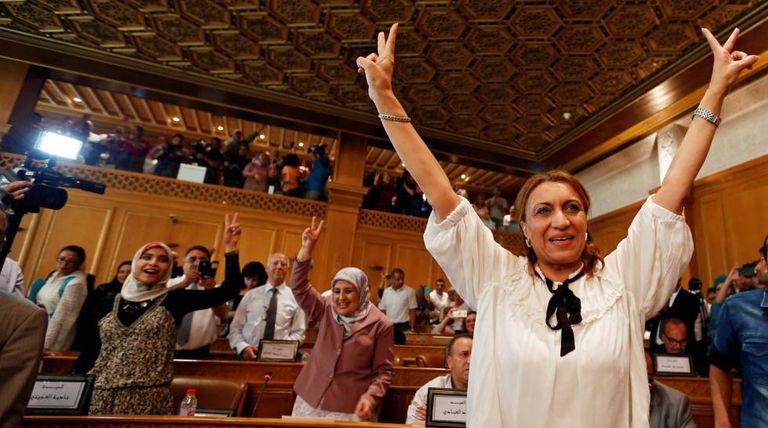 Suad Abderrahim, uma executiva de 53 anos, era a candidata do partido islâmico moderado Ennahda.