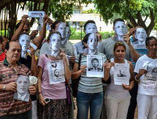 Dissidentes protestam em Havana.
