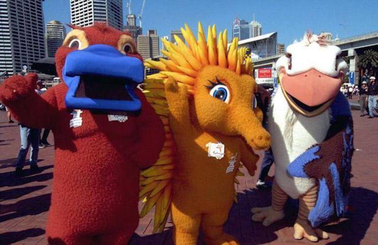 As mascotes dos Jogos do Sidney representavam um kookaburra, um ornitorrinco e uma equidna.
