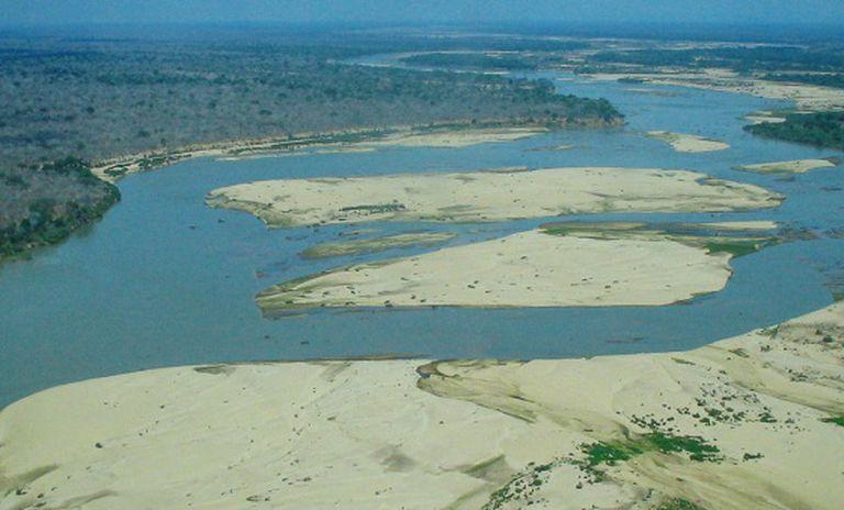 A reserva de caça de Selous (Tanzânia).