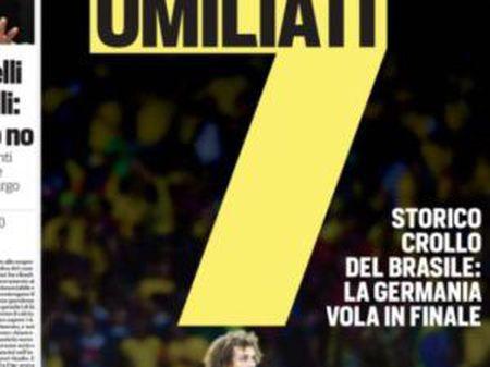 Capa do jornal italiano 'Corriere dello Sport'.
