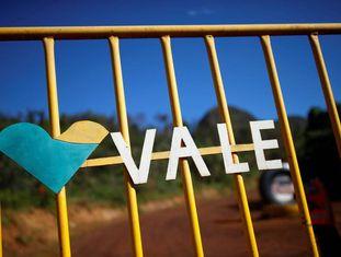 Logo da Vale em Brumadinho.