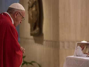 O Papa Francisco nesta quarta-feira no Vaticano.