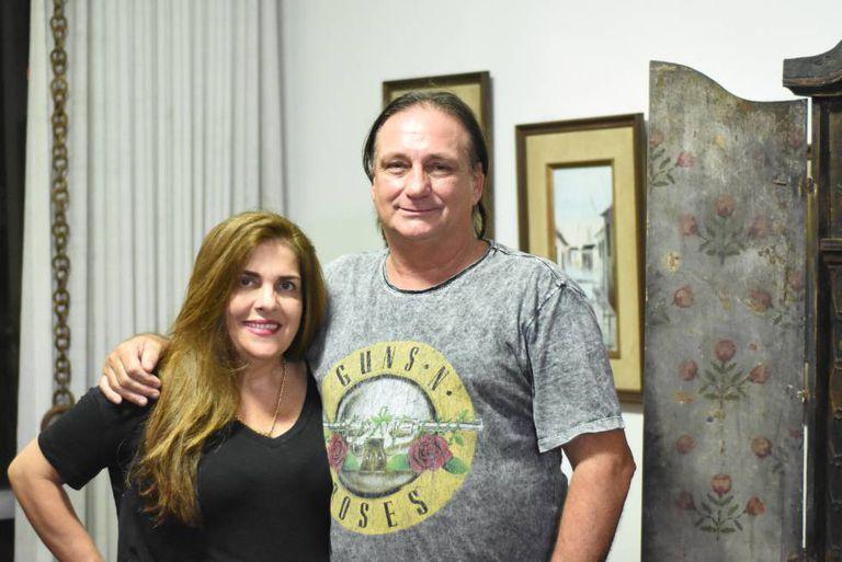 O casal Rita Paim e Sérgio Pretto, de Salvador.