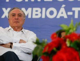 Michel Temer durante evento em Xambioá (TO), nesta quinta-feira