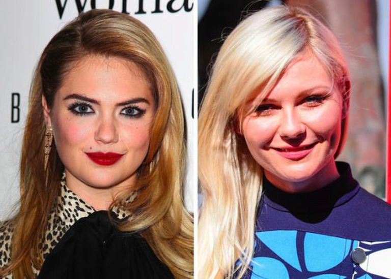 As atrizes Kate Upton e Kirsten Dunst, vítimas do Celebgate.