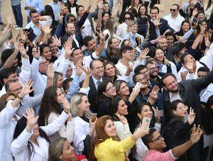 Recepção de novos profissionais brasileiros no Programa Mais Médicos em outubro do ano passado