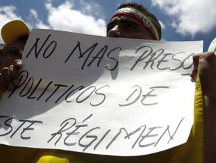 Manifestación nesta sexta-feira em Caracas para protestar pela detenção de Ledezma.