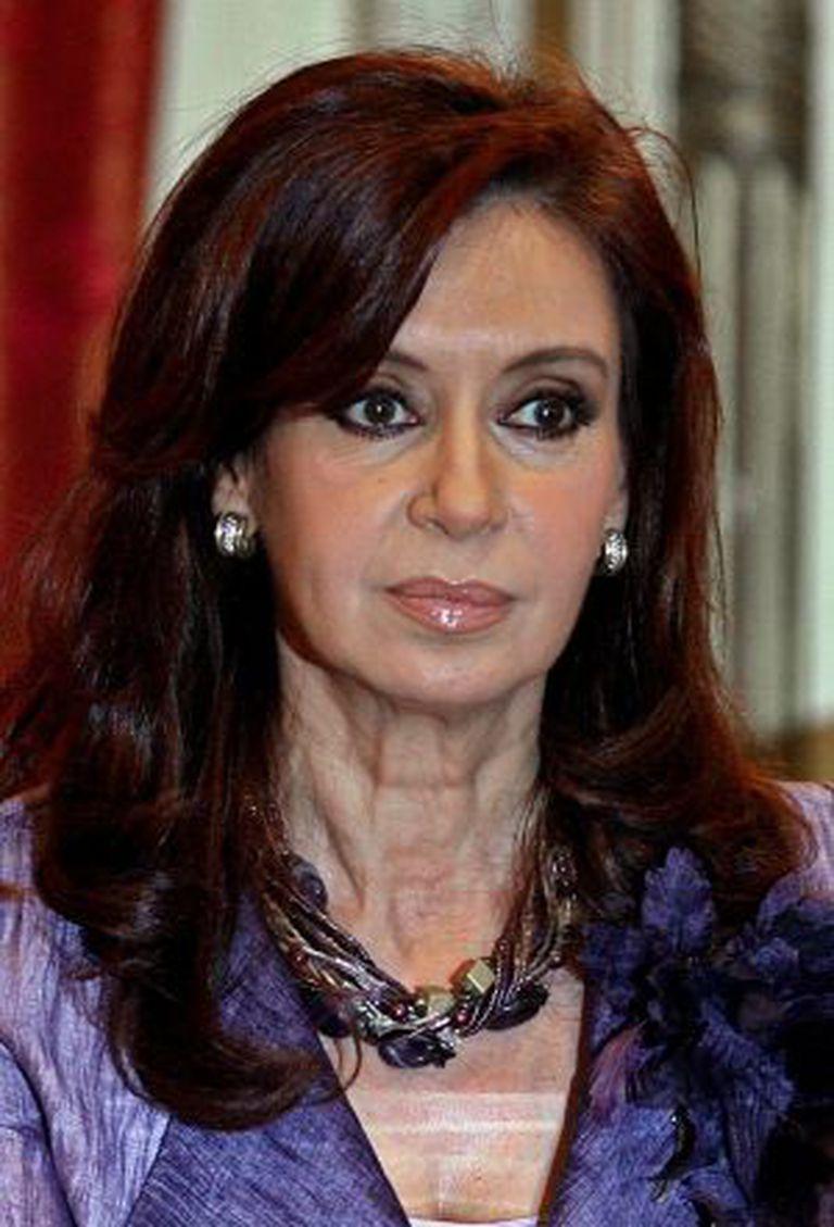 A presidenta argentina, Cristina Kirchner.