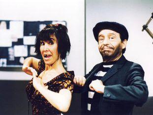 Florinda Meza e Roberto Gómez Bolaños, nos anos noventa.