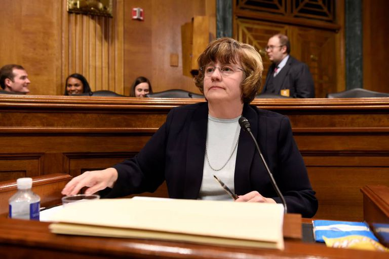 A procuradora Rachel Mitchell, na quinta-feira no Senado.